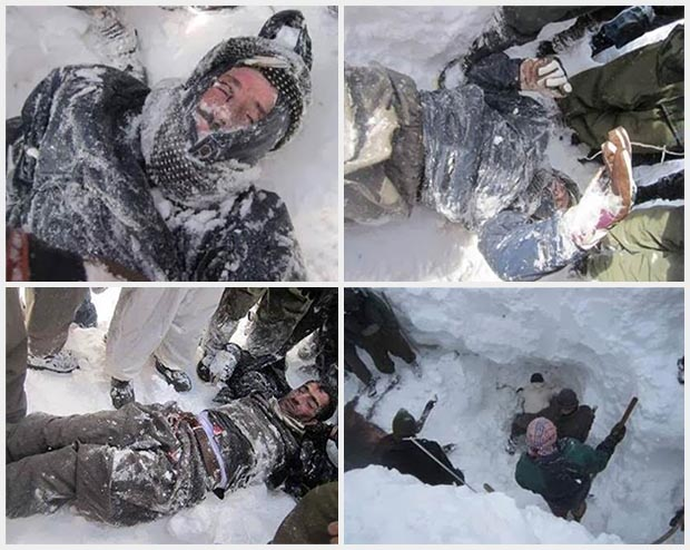 The story of 4 Kurdish Kolbers stuck under avalanche