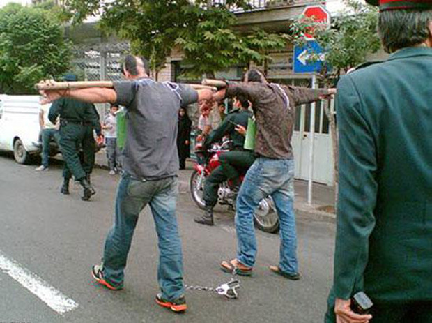 Desecration of prisoners in public by the Islamic Regime of Iran