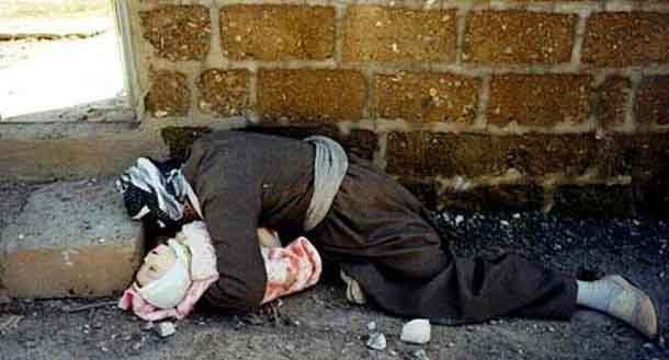 16th March 1988, Helebce Massacre Omer Xawer and his kid