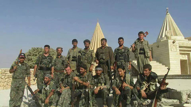 HPG and YPG fighters in Lalesh