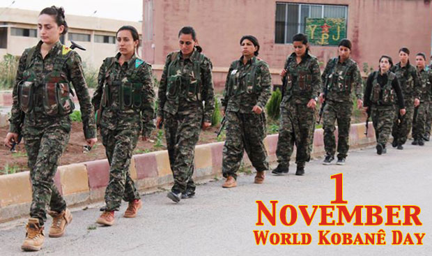 YPJ fighters call for resistance on 1 November