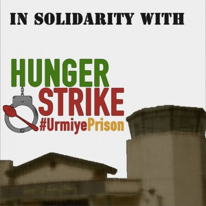 Demonstration for political prisoners on hunger strike in Urmiye central prison