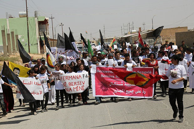 1st anniversary of genocide against Êzîdîs in Şengal