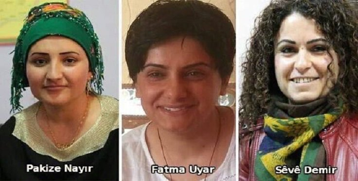 Three Kurdish female activists murdered in Silopî