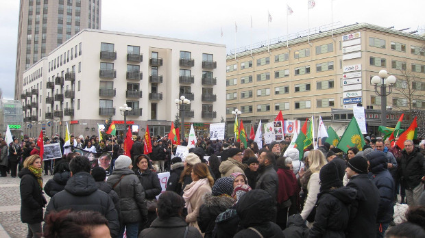 Swedes, Iranians, Turks, Balochs, Latin Americans and Kurds in Sweden protested the Turkish state