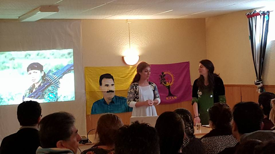Seminar held by KJAR Europe and Communist Party of Karlstad about YPJ women