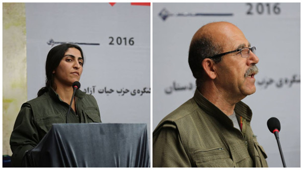 PJAK's co-chairs, Zîlan Vejîn and Siyamend Moînî