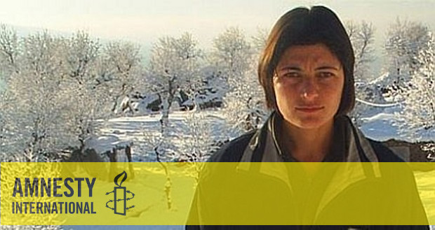 Zeyneb Celaliyan - Amnesty International Logo