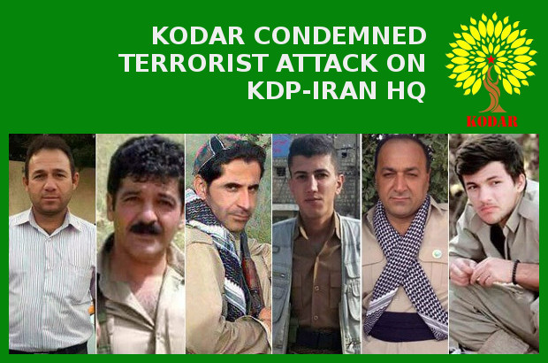 KODAR condemned terrorist attack on KDP-Iran HQ