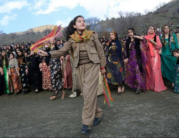 Videos of Rojhelat's Newroz celebration
