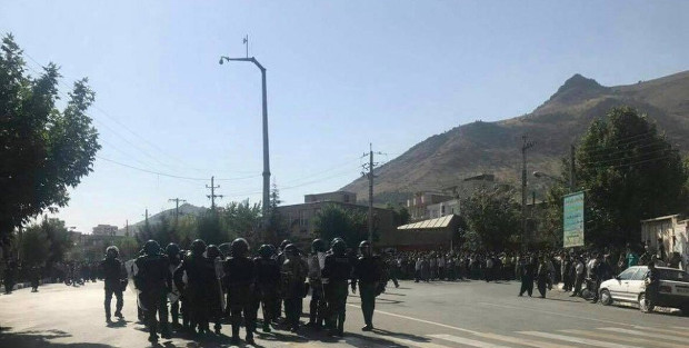 Kurdish cities in Iran militarised after demonstrations