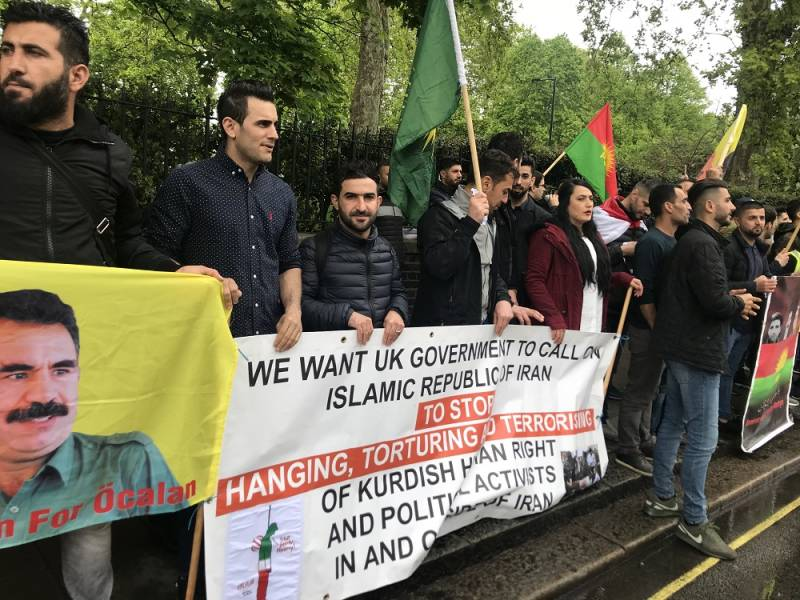 Kurds in Britain condemned the Iranian regime on the anniversary of the execution of political activists