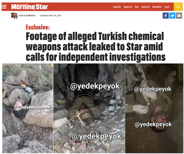 The chemical and phosphor weapon user (the Turkish regime) is the vital partner for the UK and a long-term NATO ally against Kurds and Kurdistan!