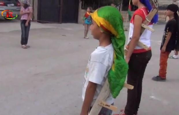 Kurdish Children Reclaim Play Ground in Rojava [VIDEO]